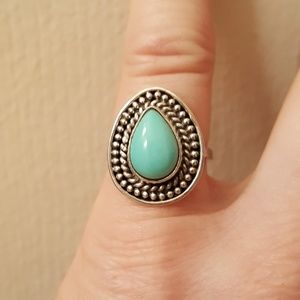 Sonoran Blue Turquoise 2.80cts Sterling Size 6